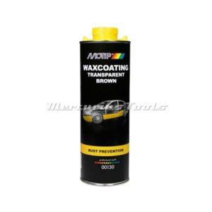 Motip 00130 transparante bruine antiroest waxcoating in 1 liter onderschroefbus