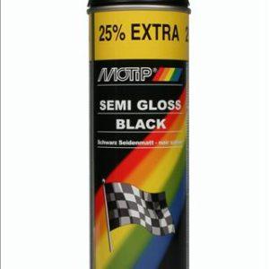 Motip zijdeglans zwart 500ml