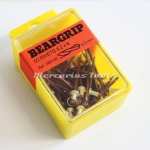 Beargrip popnagels 2.9x9mm rood 50 stuks