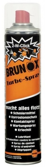 Brunox multifunctionele Turbo-Spray in 400ml spuitbus met 2W click spuitmondje