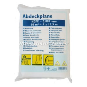 Color expert afdekfolie HDPE 0,007MM 4 X 12.5M