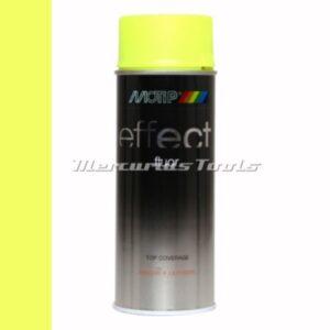 Fluor geel fluorescent yellow doe het zelf lak 400ml spuitbus -Motip Deco Effect