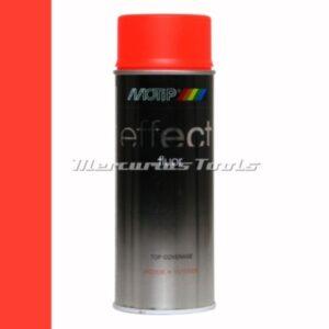 Fluor rood-oranje fluorescent red-orange doe het zelf lak 400ml spuitbus -Motip Deco Effect