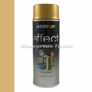 Goud metallic gold doe het zelf lak 400ml spuitbus -Motip Deco Effect