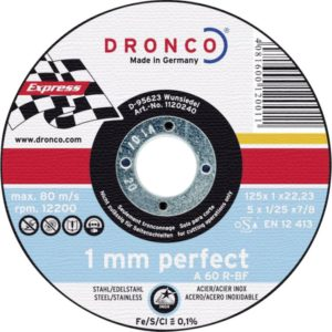 Dronco slijpschijf 125mm x 1mm perfect
