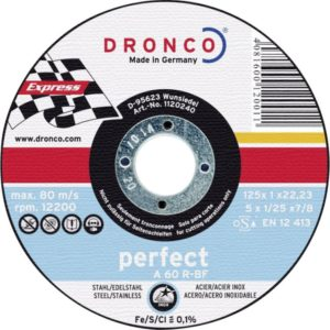 Dronco slijpschijf 125mm x 6mm perfect