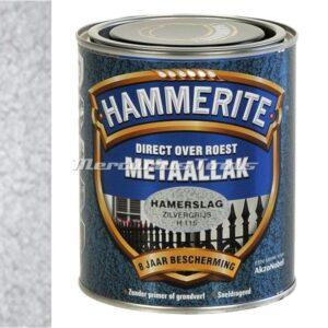 Hamerslag anti roest lak zilver H115 750ml -Hammerite