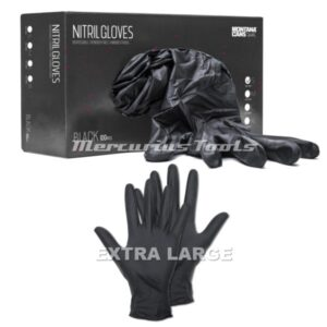 Handschoenen nitril zwart XL 100x -Montana 430053
