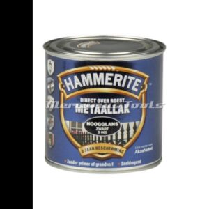Hoogglans anti roest lak zwart S060 250ml -Hammerite