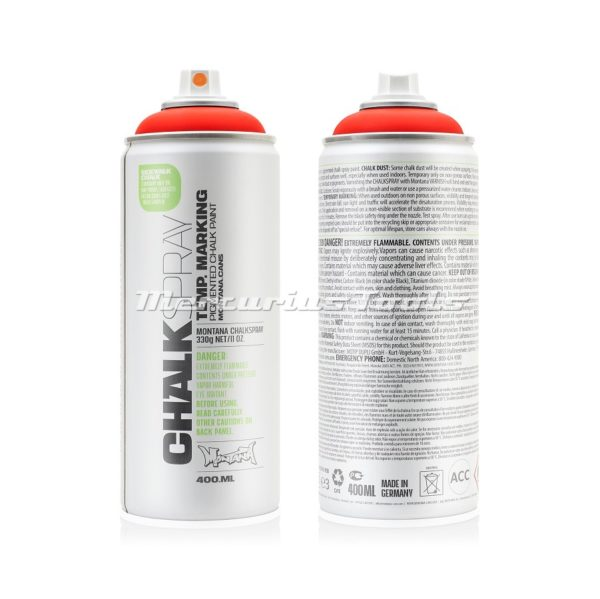 Krijtspray rood 400ml -Montana Chalk spray CH 3000