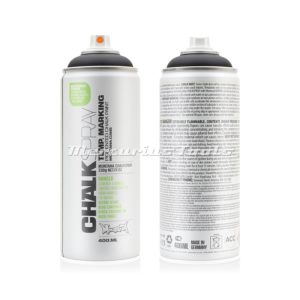 Krijtspray zwart 400ml -Montana Chalk spray CH 9000
