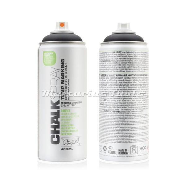 Krijtspray zwart 400ml -Montana Chalk spray CH 9000