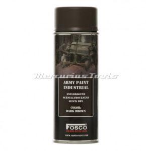 Leger verf bruin Dark Brown in 400ml spuitbus Fosco