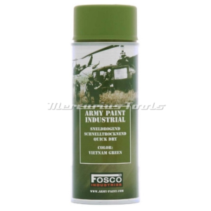Leger verf groen Vietnam Green in 400ml spuitbus Fosco