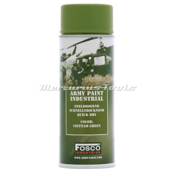 Leger verf groen Vietnam Green in 400ml spuitbus Fosco