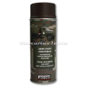 Legerverf bruin RAL8027 Mud Brown in 400ml spuitbus Fosco 46931226A