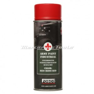 Legerverf rood Red Cross red in 400ml spuitbus Fosco 469312116A