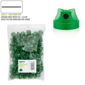 Level 2 caps groen fine spuitkopjes 100x -Montana
