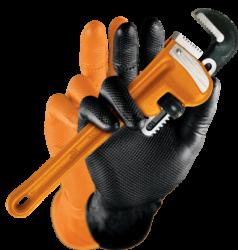 M-safe Grippaz nitril handschoenen voor extra grip oranje maat S