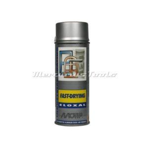 Eloxalspray zilver voor geanodiseerd aluminium in 400ml spuitbus Motip 07403