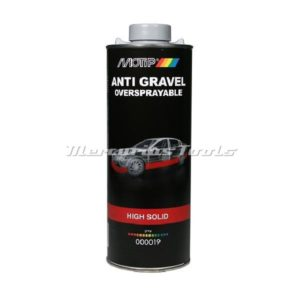 Motip 000019 anti steenslag coating grijs high solid 1 liter onderschroefbus
