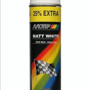 Motip 04002 mat witte verf in 500ml spuitbus