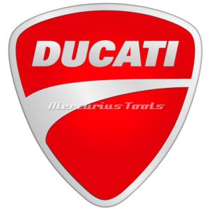 Motorfietslak Ducati 1k in spuitbus gemengd Mercurius Tools