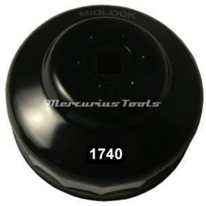 Oliefiltersleutel 76mm 14 kant 38 -Midlock 1740
