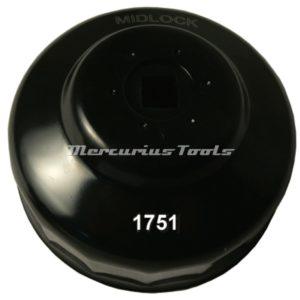 Oliefiltersleutel 86mm 38 aansluiting Midlock 1751