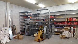 Opbouw nieuw magazijn Mercurius Tools 13-10-2016