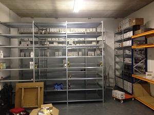 Opbouw nieuw magazijn Mercurius Tools 17-10-2015