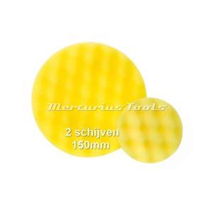Polijst schijf 150mm geel medium (2 stuks) -Airo