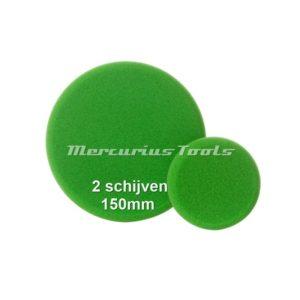 Polijst schijf 150mm groen fijn (2 stuks) -Airo