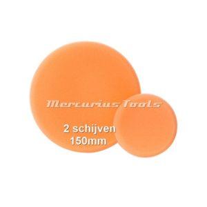 Polijst schijf 150mm oranje grof (2 stuks) -Airo