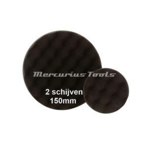 Polijst schijf 150mm zwart fijn (2 stuks) -Airo