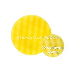 Polijst schijf 75mm wafel geel medium (5x) -Airo