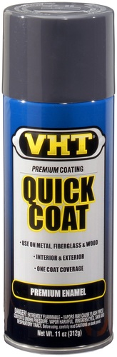 VHT SP513 grijze lak Machinery grey quick coat in 400ml spuitbus