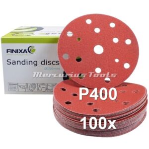 Schuurschijven rond P400 velcro 150mm 15 gaten 100x -Finixa SPDA