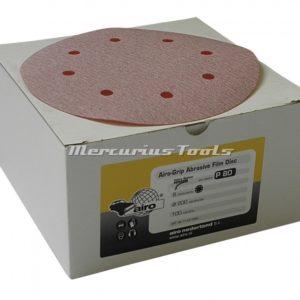 Schuurschijven rond velcro 150 mm P400 100x -Airo Blue film