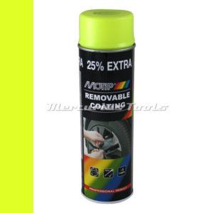 Sprayplast rubber coating fluor geel 500ml -Motip 04310