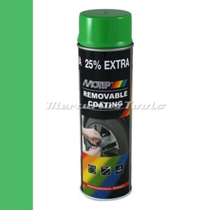 Sprayplast rubber coating hoogglans groen 500ml -Motip 04305