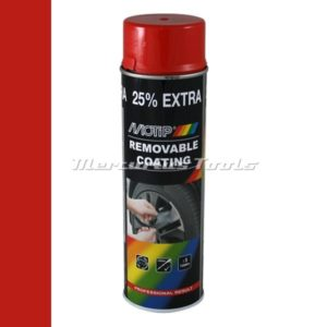Sprayplast rubber coating hoogglans rood 500ml -Motip 04309
