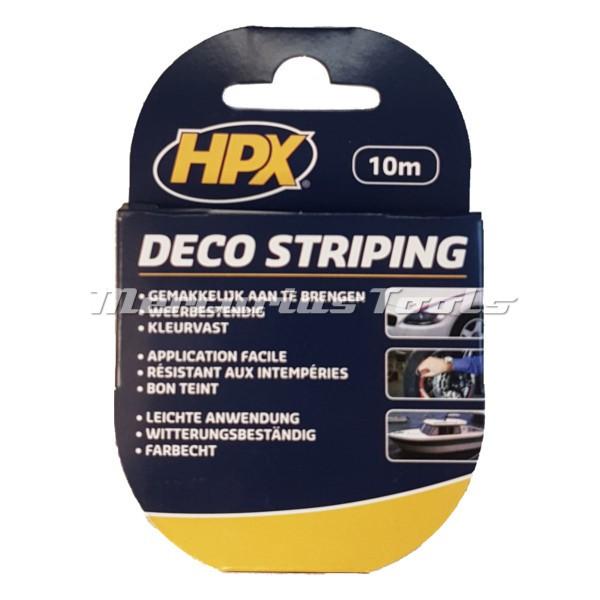 Striping tape 9mm geel op 10m rol -HPX LB39XF
