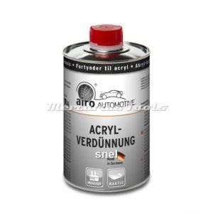 Verdunner (snel) voor Acryl autolak 1L -Airo
